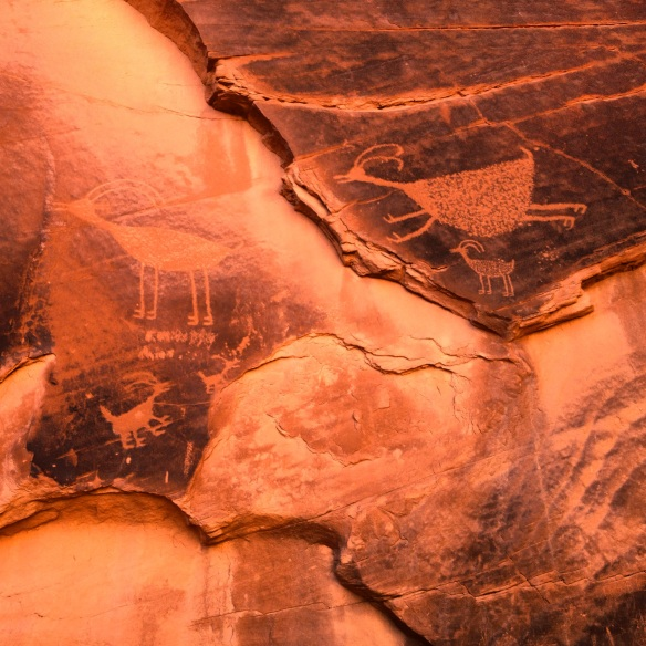 Anasazi pictographs