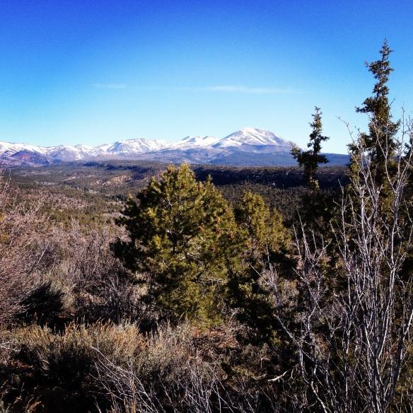 Beautiful work view - Abajo Mountains