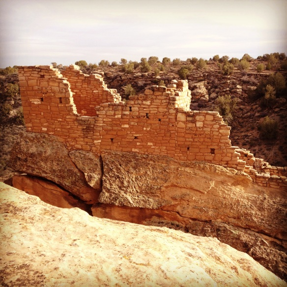 Tower on top of a boulder, Hovenweep National Monument