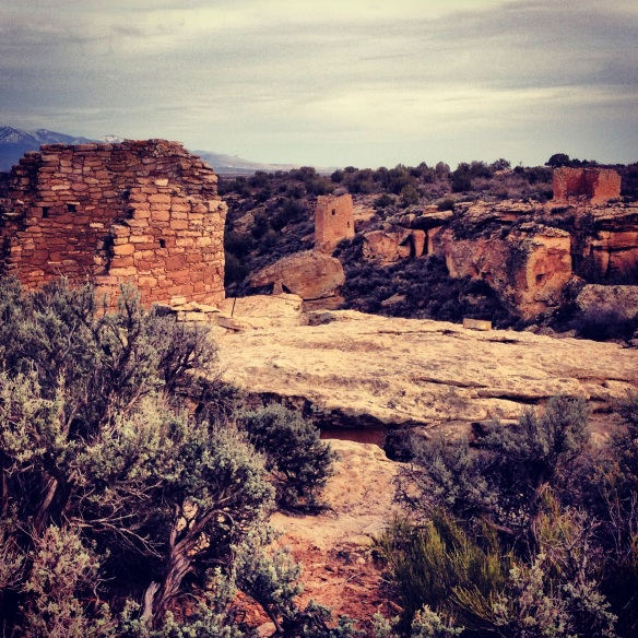 Some of the towers at Hovenweep